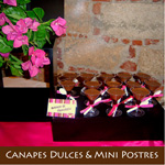 CANAPES DULCES Y MINI POSTRES