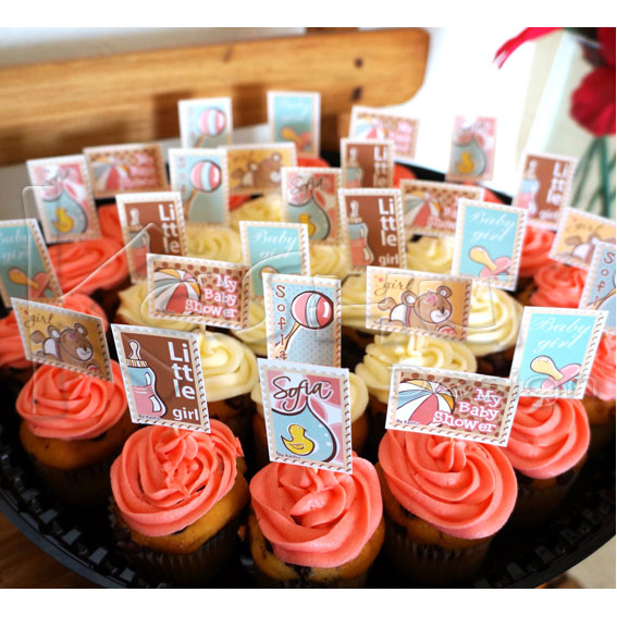 CUPCAKES DECORADOS BABY SHOWER