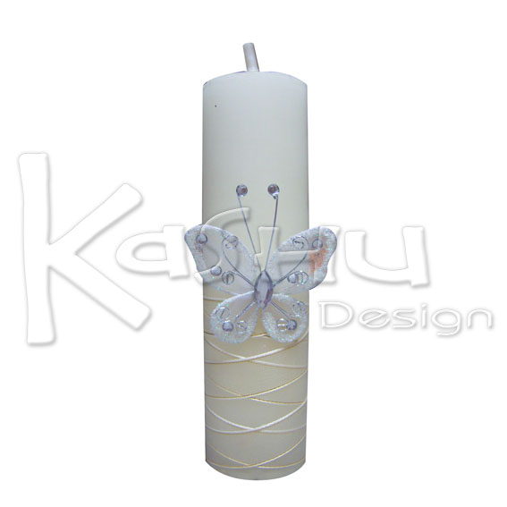 Kashu design velas para bautizo for Decoracion de velas para bautizo